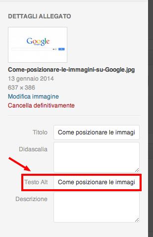 Come posizionare le immagini su Google